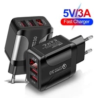 2usb travel charger quick charger usb charger for samsung iphone12 huawei xiaomi tablet fast wall charger us eu uk plug adapter