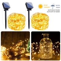 new year solar lamp led outdoor 30m20m led string lights fairy holiday christmas party garlands solar garden waterproof lights