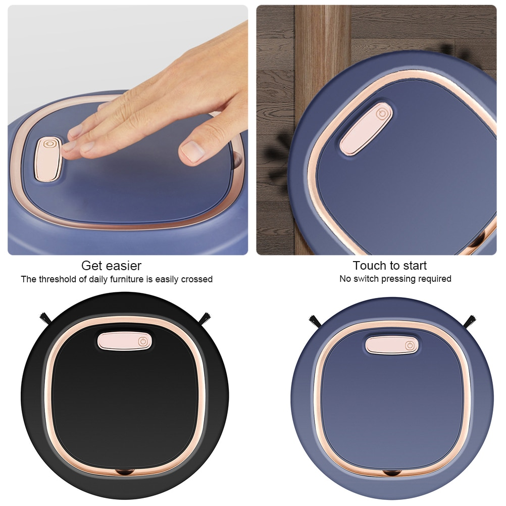 3 In 1 Intelligent Robot Vacuum Cleaner Sweeper 1200 mAh Battery Suction Vacuum Cleaner Robot for Floors Pet Hair Dust enlarge