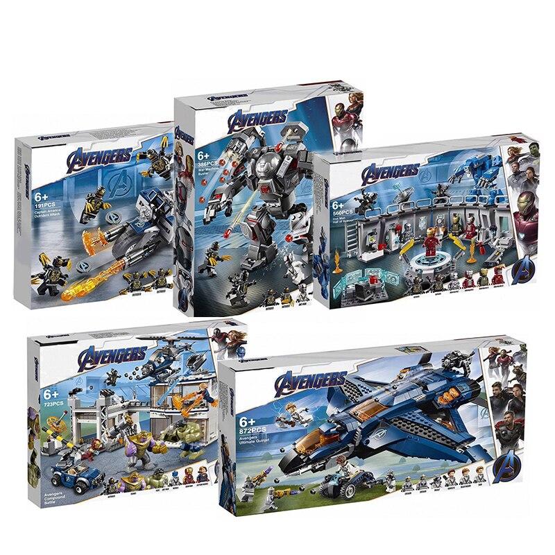 2019 Avengers 4 Endgame Ultimate Quinjet Set lepines 76107 76108 76123 76125 76126 76131 bloques de construcción juguetes de ladrillo para niños