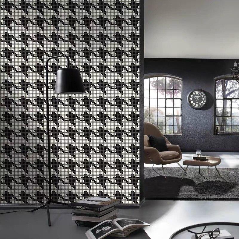 Simplifique o Padrão de Mosaico Cerâmico da Mistura do Preto e do Withe do Estilo