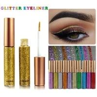 10 colours shiny pearlescent metallic eyeliner eyeshadow pen glitter matte liquid eyeliner waterproof lasting maquiagem