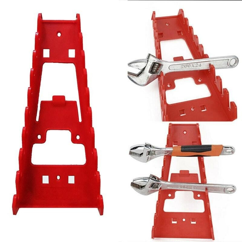 Tool Organizer Wrench Spanner Sorter Holder Wall Mounted Tool Storage Tray Socket Storage Rack Plastic Tools Organizer