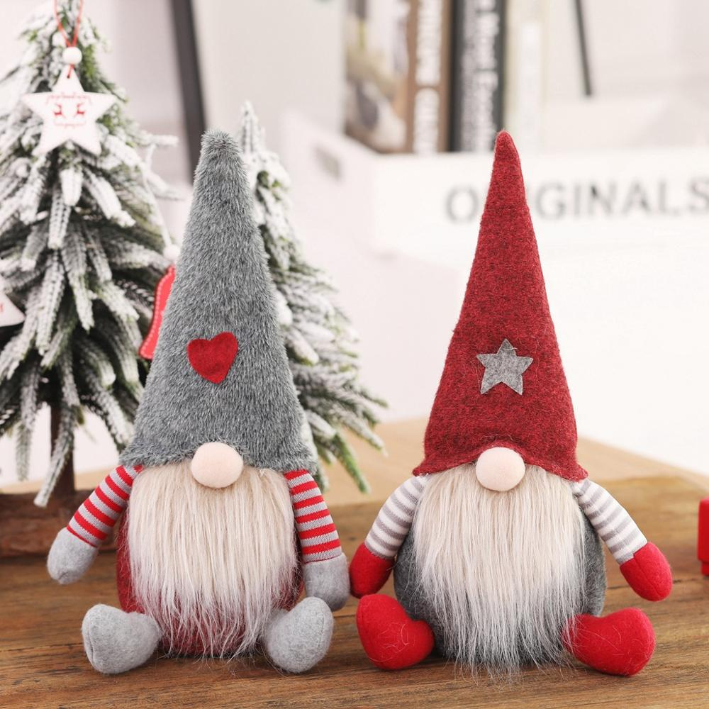 1pcs 28cm Christmas Doll Toys Santa Claus Snowman Christmas Tree Hanging Ornament Decoration for Home Xmas Party Christmas Gift christmas tree decoration ball metal decoration home christmas ornament decoration christmas party party hanging ball ornament