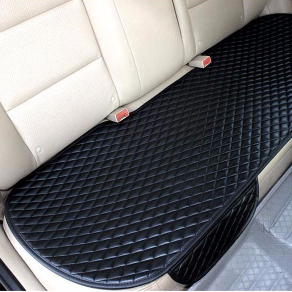 Fundas de asiento de coche universales atadas, accesorios de estilo de coche, cojín para asiento de vehículo, cojín sin espalda para asiento trasero de coche