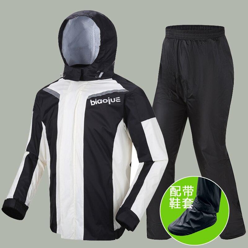 Nylon Motorcycle Raincoat Rain Pants Suit Men Waterproof Split Ultra-Thin Rain Coat Jacket Flash Shoe Cover Outdoor Hiking Gift enlarge
