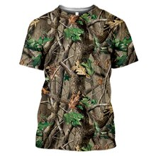 Outdoor Hunting Camouflage T-shirt Men 3d Print Summer Cool Military Tops Sport Camo Camp Gym Tees S
