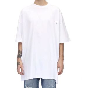 2020ss High Quality Vetements Chest Logo Embroidery T-Shirt Men Women Couples Top Tee Basic O-Neck Cotton T Shirt