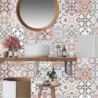 Autocollants carrelage mosaique 3D etanche arabe  papier peint adhesif pour salon cuisine retro  decor de salle de bains  bricolage
