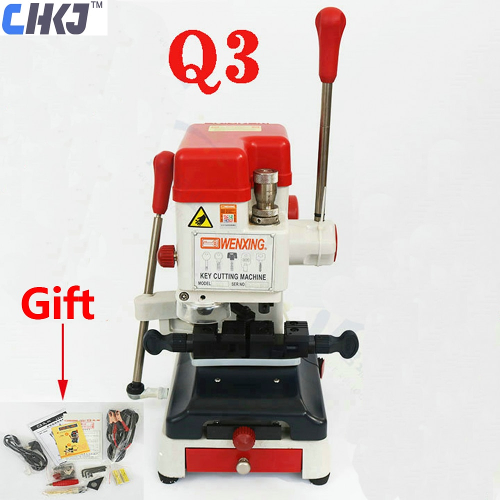 CHKJ Wenxing Vertical Key Cutting Machine Q3 Adjustable Speed 220V 12V Key Machine for Making Keys Locksmith Supply