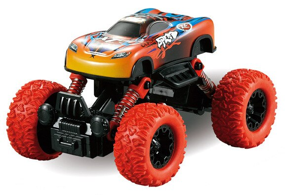 Pull Back Alloy Climbing Car Big Wheel Off-road Vehicle Simulation Model Toy For Children alloy climbing mountain bigfoot four wheel drive remote control car toy model 1 16 off road vehicle climbing car children