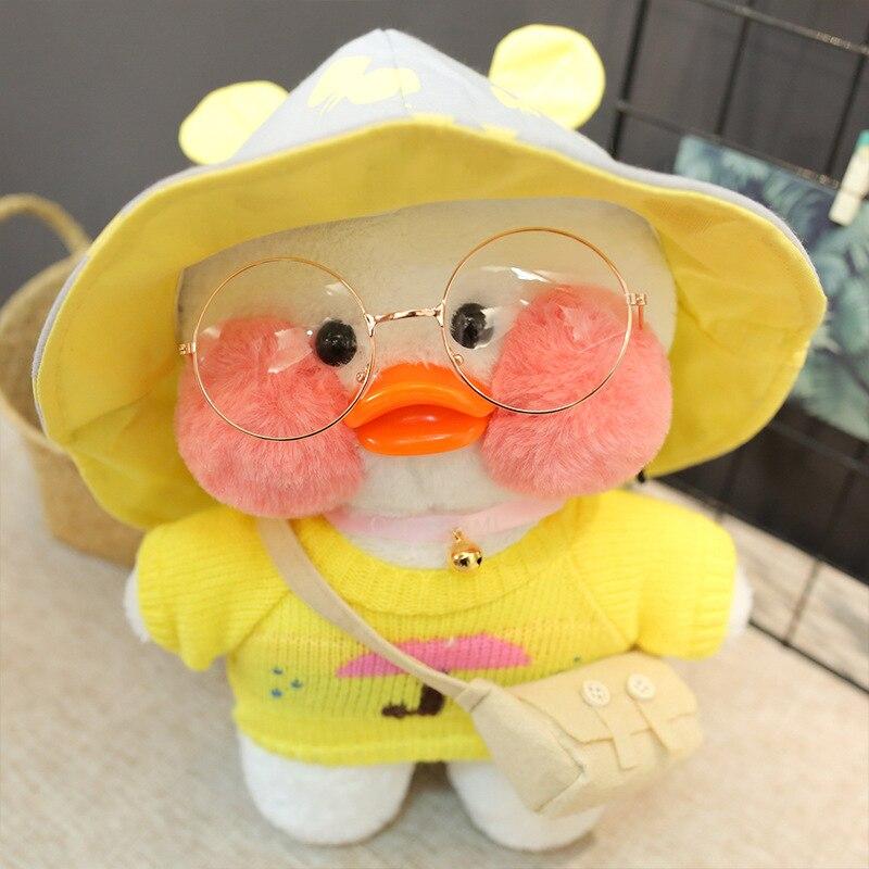 30cm yellow LaLafanfan Cafe Duck Plush Toy Cartoon Cute Duck Stuffed Doll Soft Animal Dolls Kids Toys Birthday Gift for Children