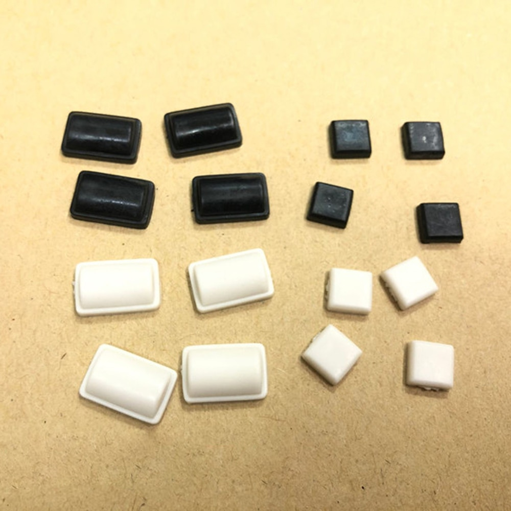 2000 مجموعات 8 في 1 أبيض أسود المسمار المطاط قدم غطاء مجموعة لوى وحدة التحكم