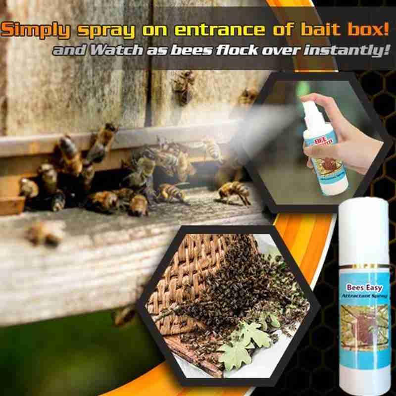 1pc Bee Easy Attractant Spray 60ml Lure Bait Honey Hive Attract Colony Pots Trap Honey Bee Beekeeping Tool недорого