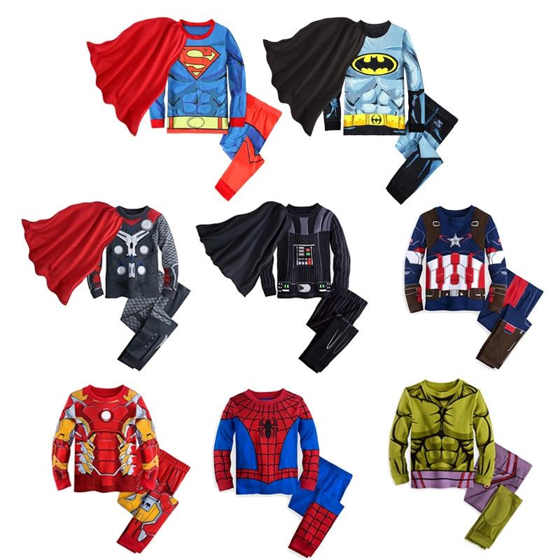 Kid Boys Cosplay Star Wars Raytheon Costume Pajamas Superman Batman Hulk Captain America Homewear Iron Man Spiderman Sleepwear
