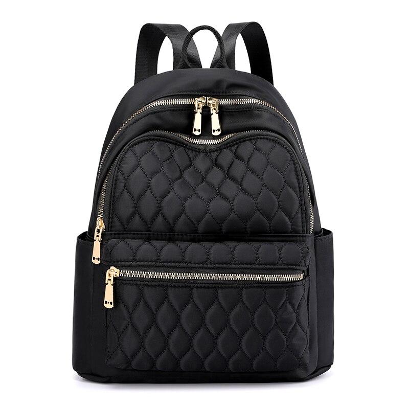 Модный женский рюкзак в клетку с бриллиантами, прочный тканевый нейлоновый рюкзак, красивый стильный школьный рюкзак для девочек, Женский д...