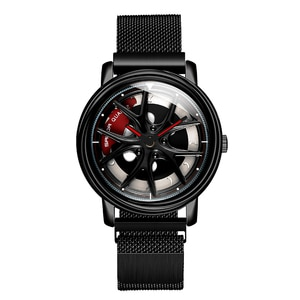 New Cool Hollow Watch Men Rotating Dial Creative Men's Watches Magnet Clasp Quartz Wristwatch Male Clock Gifts Relogio Masculino