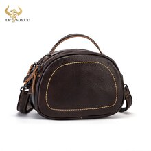 Antique Natural LEATHER Famous Brand Luxury Ladies Small handbag Shoulder bag Women Designer female