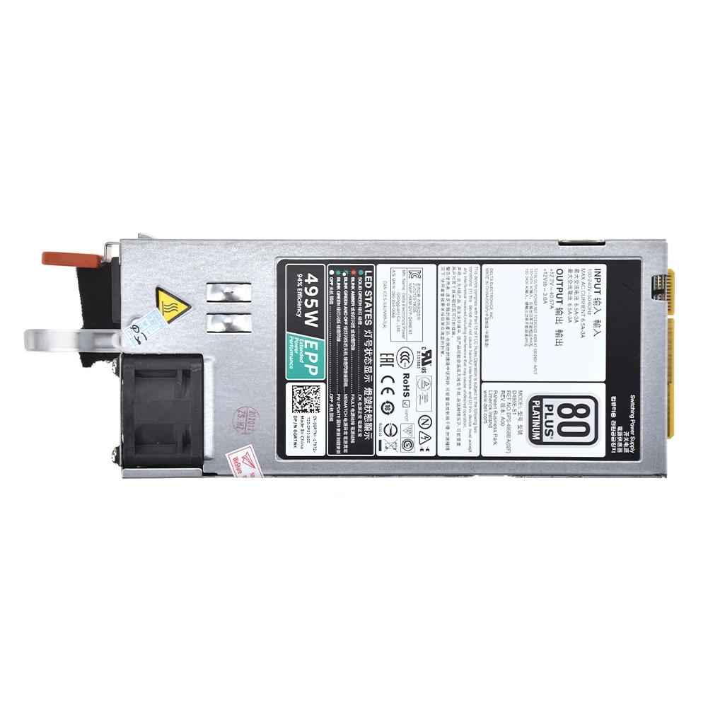 Фото - Блок питания с горячей заменой для DELL R530 R630 R730 R730XD T430 T630 495 Вт блок питания dell 450 aebnt hot plug redundant power supply 750w for r540 r640 r740 r740xd t440 t640 r530 r630 r730 r730xd t430 t630 analog 450 adws