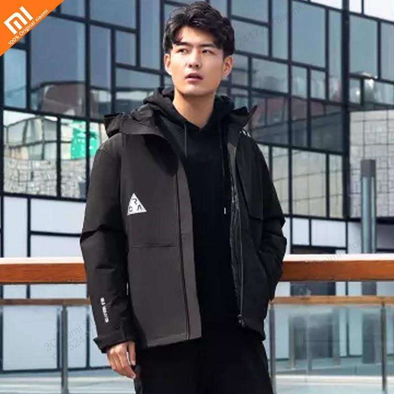 Xiaomi mijia Aerogel de dos-en-uno ropa de invierno ropa de la tecnología de Cachemira cálido y a prueba de viento a prueba de lluvia chaqueta diseño desmontable