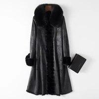 vintage natural female rabbit coat real fox mink fur collar jacket women clothes 2020 korean streetwear shearling coats 1113