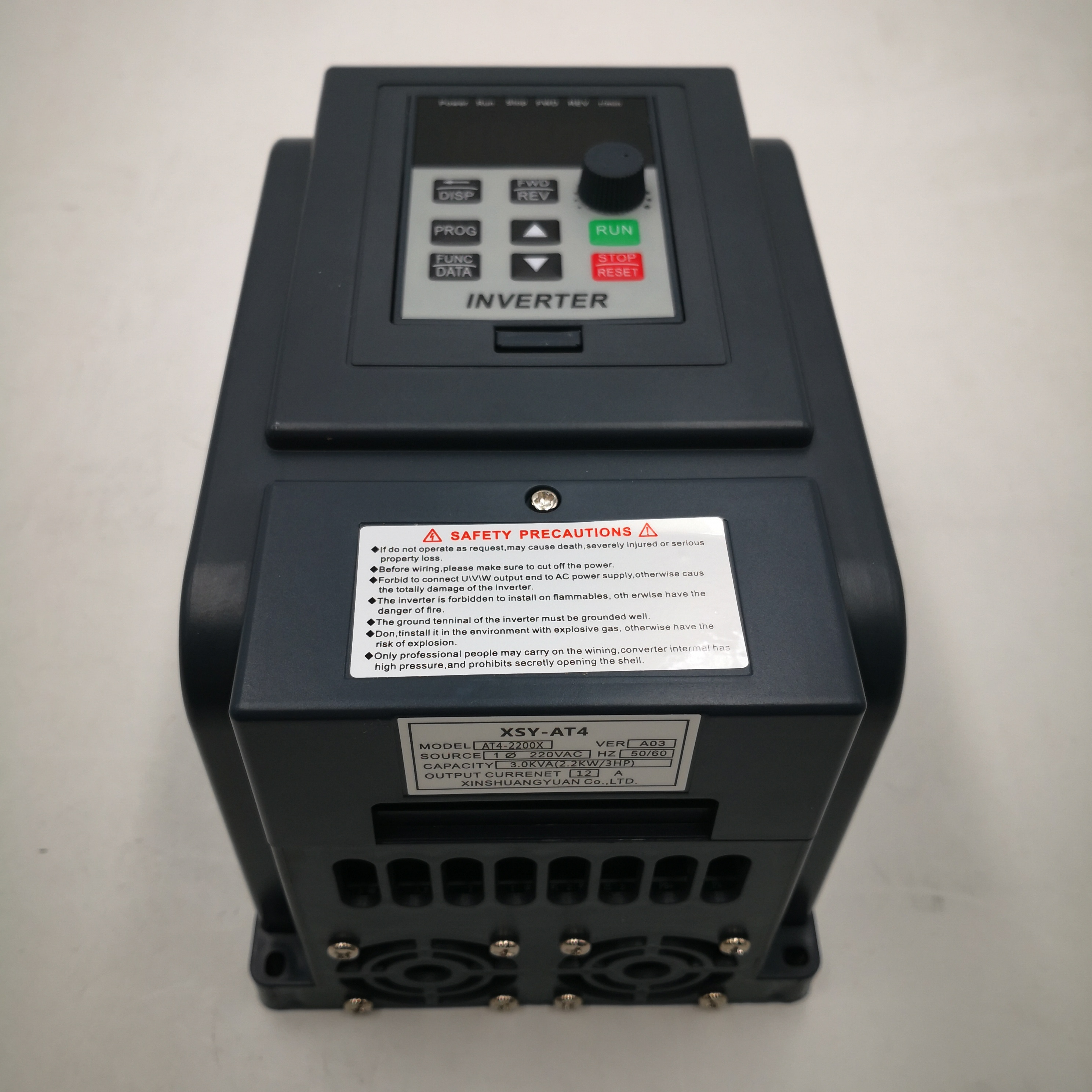 Inverter AT4 2.2KW 1P-220V in and Output Real  3P-380V out household electric input and Three-phase 380V output VFD