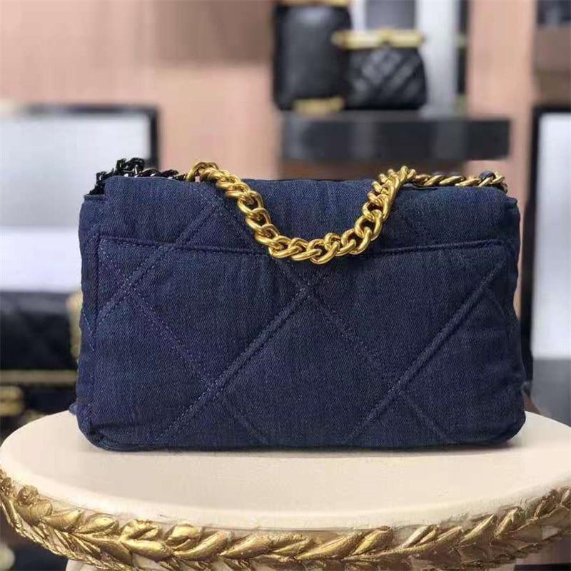 العلامة التجارية الشهيرة CC المرأة حقيبة حقيبة كتف الموضة الفاخرة مصمم حقيبة يد الكلاسيكية Tannin الدنيم حقيبة ساعي 2021 جديد الوجه