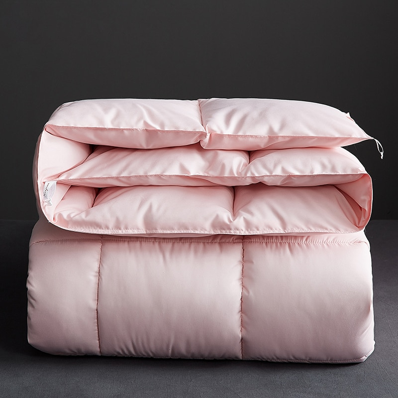الخبز شكل المعزي طقم سرير بطانية نمط جديد سميكة ودافئة لحاف الشتاء حاف الطباعة الفاخرة 100% ريشة النسيج المعزي
