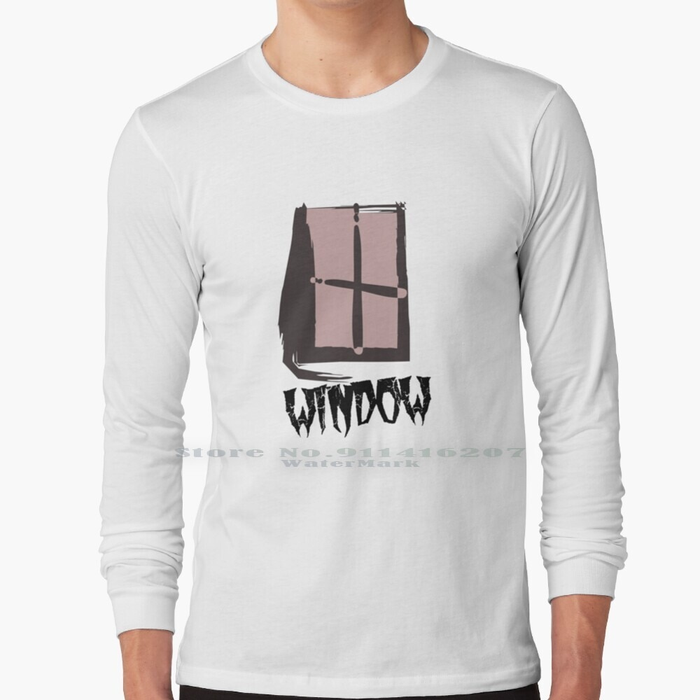 Musterious Window T Shirt 100% Pure Cotton Mysterious Window Danger Windows Goast Window Horror Window Window Horror Film Rear