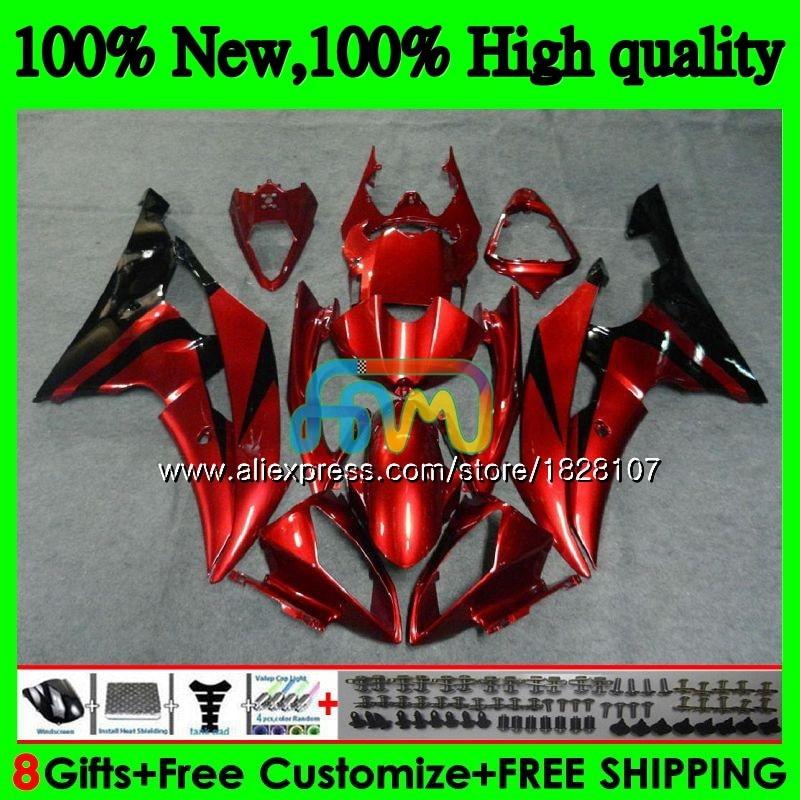 YZF-R6 لياماها YZF600 YZF-600 الأحمر الداكن بيع YZFR6 08 09 10 11 12 63BS.4 YZF 600 R 6 YZF R6 2008 2009 2010 2011 2012 Fairings