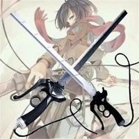 cosplay 2 style attack on titan mikasa double knife ackerman sword rivamika levimika role playing ackerman prop weapon 95cm