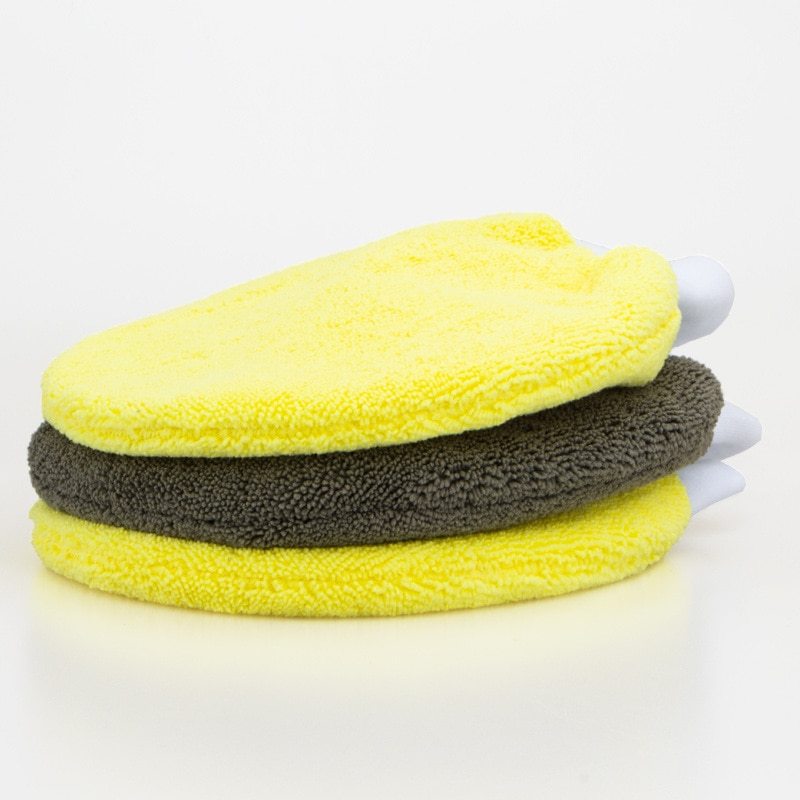 25x19CM Car Cleaning Wash Tools Microfiber Washing Gloves Auto Care Water Absorption Car-styling Soft Plush Car Accessories