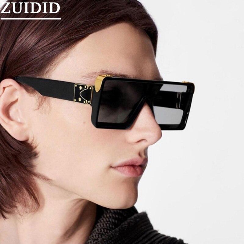 نظارة شمسية كلاسيكية مليونير مربعة الشكل نظارات أنيقة فاخرة موضة 2021 نظارات شمسية أنيقة كبيرة الحجم مزينة بالباعة Zonnebril