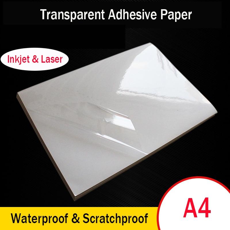 a4-carta-da-stampa-autoadesiva-trasparente-adesivo-per-etichette-in-pet-stampa-a-getto-d'inchiostro-laser-impermeabile-e-resistente-alle-alte-temperature