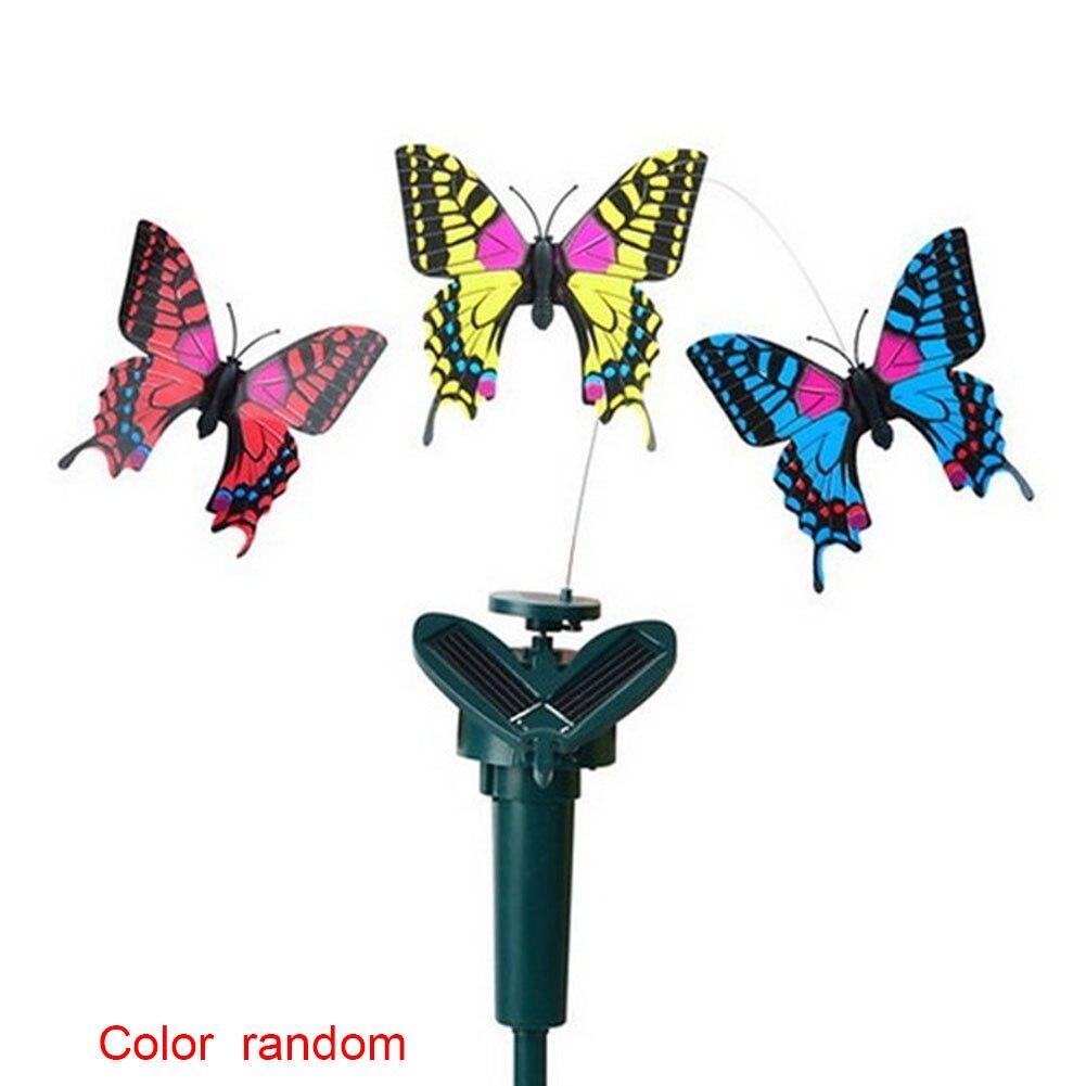 Estimulador Butteryfly novedad vibración giratoria ABS baile energía Solar decoración del jardín