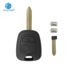 OkeyTech для Citroen C1 C2 C3 Saxo Xsara Elysee Picasso Berlingo ключ оболочка 2 кнопки чехол для дистанционного ключа автомобиля чехол Замена Fob