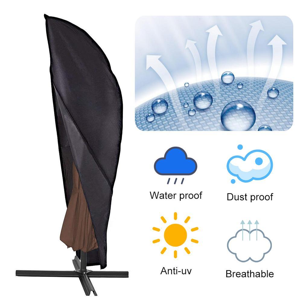 420D 280x32 Centímetros Tampa Do Guarda-chuva Capa de Chuva Ao Ar Livre À Prova D Água Capa de Chuva Com Zíper