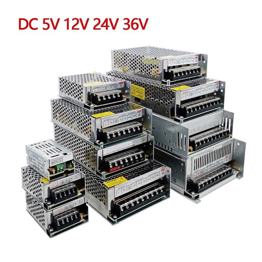 Fonte de alimentação 3v 9v 15v 18v 36v 1a-60a fonte de alimentação 5 12 24 v volt transformador 220v a 12v led driver strip