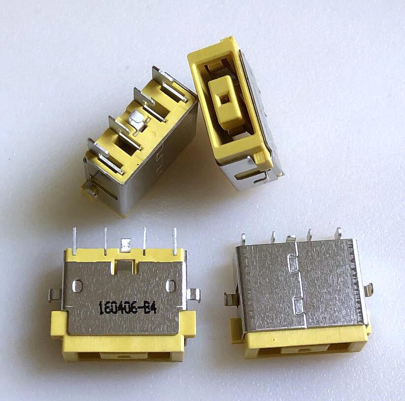 Para ThinkPad Lenovo fuente de alimentación para portátil hembra enchufe de carga hembra Puerto cuadrado amarillo