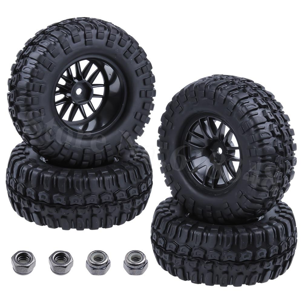 "4x96mm 1.9 ""pneus pneus & jantes de roda conjunto com espuma para 1/10 escala rc rock crawler axial scx10 rc4wd d90 redcat hsp acessórios"