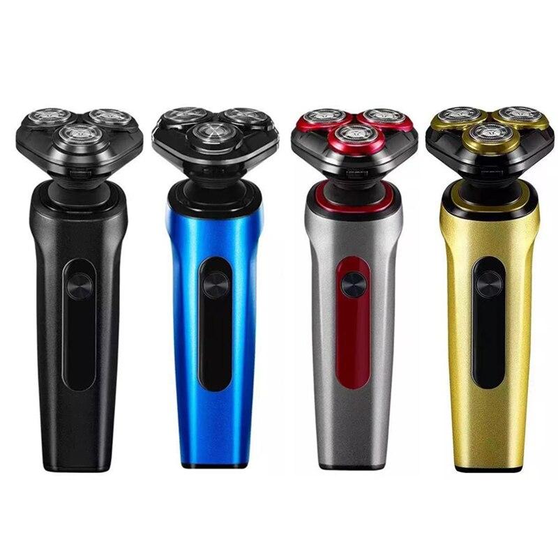 Mannen Elektrische Scheerapparaat IPX7 Waterdicht Wasbaar Scheermes Licht Luxe Rotary Scheerapparaten  Heren Scheerapparaten enlarge