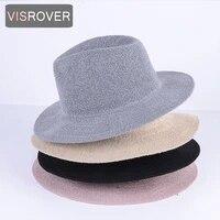 visrover 3 colorways simple beach summer hat female casual solid sun hat women small brim ribbon cotton cap beach hat
