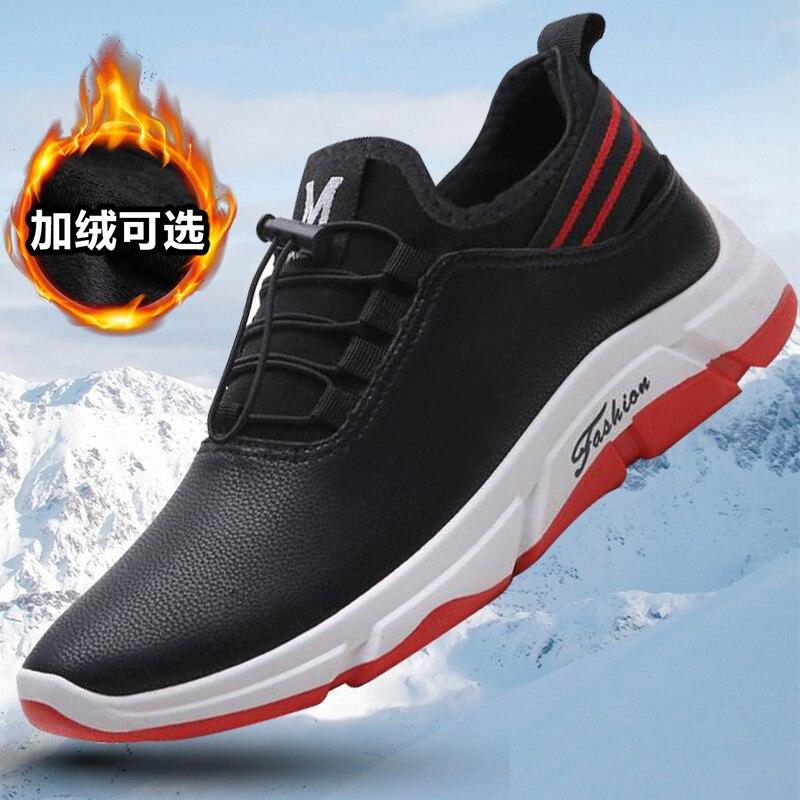 Zapatos de invierno para Hombre, Botas cálidas de tobillo para Hombre, Botas de microfibra, zapatos de Hombre de felpa, zapatillas de invierno, zapatos de otoño para Hombre