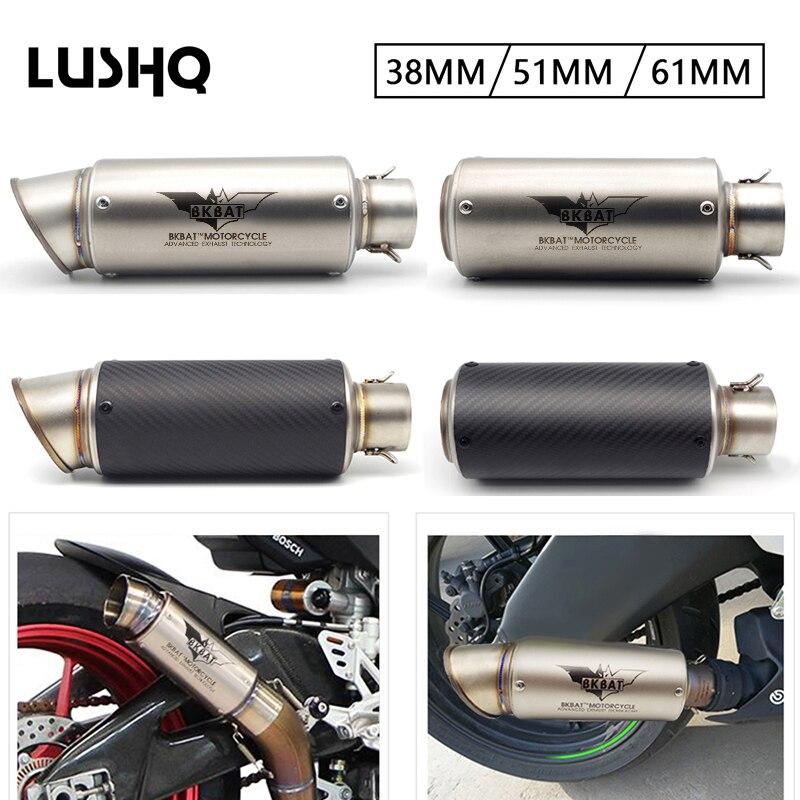 Silenciador de tubo de Escape de motocicleta, Escape de Moto para bmw r1200gs lc honda cbr 900 rr aprilia shiver honda cbf yamaha r15 v3
