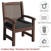 40404cm waterproof garden rattan chair cushion seat pad removable patio garden outdoor home replacment chair seat cushion