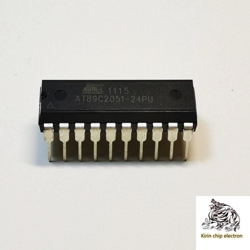 5 pçs/lote at89c2051-24pu at89c2051 ATMEL microcontrolador PU DIP