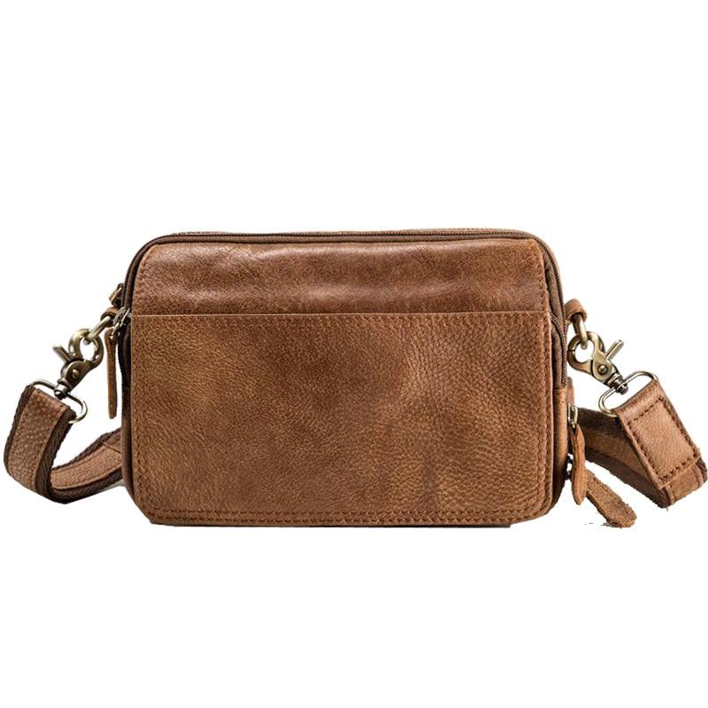 حقيبة كتف الموضة للرجال حقيبة ساع الذكور جلد طبيعي صغير حقائب كروسبودي صندوق مربع صغير Bolsas الأنثوية Saco 2020