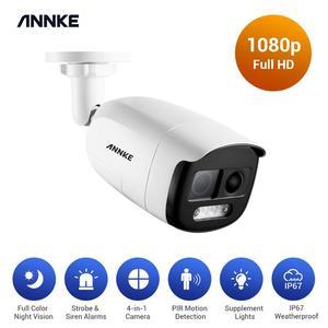 ANNKE 1080P Full Color Night Vision PIR Analog Security Camera 1PCS  Indoor Outdoor Weatherproof Surveillance Bullet CCTV Camera