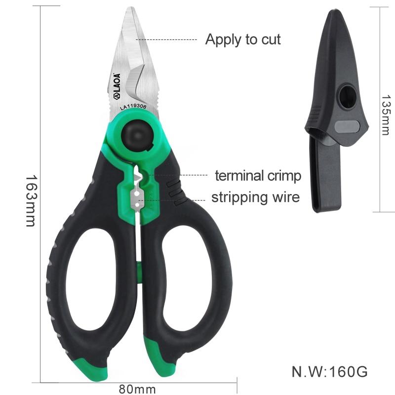 Elektrikářské nůžky 6 palcový kleště na krimpování - Ruční nářadí - Fotografie 4
