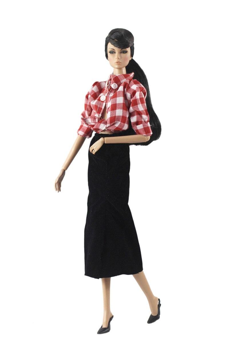 Paris Nova Moda Conjunto Roupa Vestido para Barbie FR 11 Inches BJD SD Roupa Da Boneca Acessórios de Casa De Bonecas Jogo Rolo